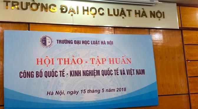 Tọa đàm về công bố khoa học tại Đại học Luật Hà Nội